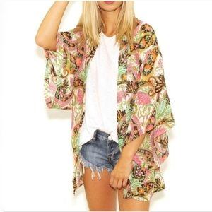Show Me Your Mumu Texas Kimono Floral Top Small